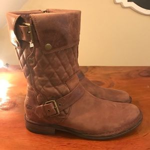 Ugg faux leather boots